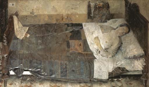 mujer durmiendo el sueño by antonio lópez garcía