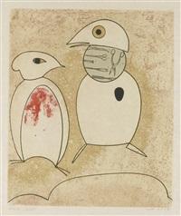 oiseaux en péril (set of 7) by max ernst