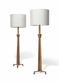 floor lamps (pair) by paul dupré-lafon