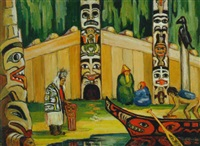 b.c. coast indian long house (lumberman's arch, stanley park) by mildred valley thornton