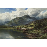 loch achray. and ben venue, perthshire by henry decon hillier