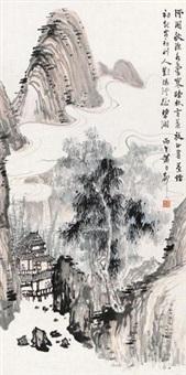 溪阁秋深图 by xiao lisheng