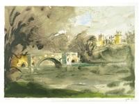 blenheim bridge by john piper