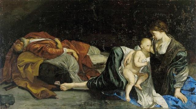 il riposa nella fuga in egitto by orazio gentileschi