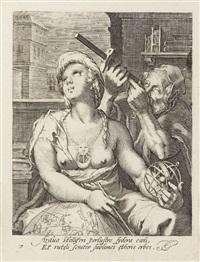 die sieben freien künste (portfolio of 7 after hendrick goltzius) by cornelis jacobsz drebbel