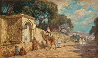 a street scene in algiers by addison thomas millar