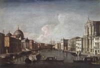il canal grande di venezia verso santa chiara by francesco albotti