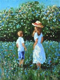 picking bluebells by lorna millar