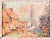 village de bretagne by marius hubert-robert
