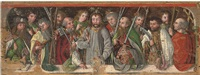 christ with the apostles: a predella by german school-swabian (15)