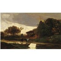 paesaggio sul fiume by pietro senno
