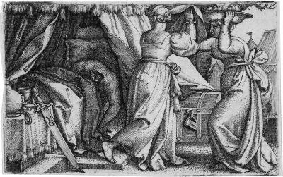judith mit dem haupt des holofernes by georg pencz
