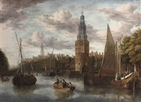 the embarkation of the troops near the montelbaanstoren at the oude schans, amsterdam, the