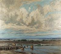 küste (+ landschaftsstudie, verso) by otto ackermann