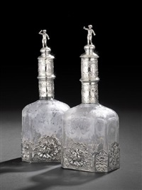 decanters (pair) by maison samson (co.)