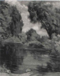 die nidda bei eschersheim by august wedel