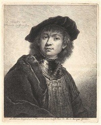 porträtdarstellungen (after rembrandt) (7 works) by georg friedrich schmidt