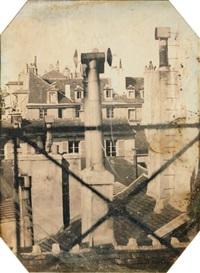 vue des toits de paris by marie charles isidore choiselat