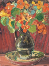 vase with spring flowers by paul verona