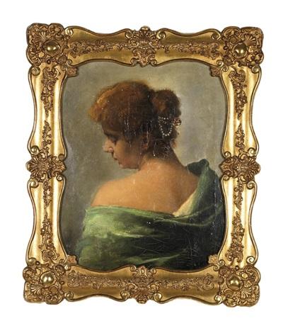 bildnis einer dame mit hochgestecktem haar by elisabeth jordis grafin von attems
