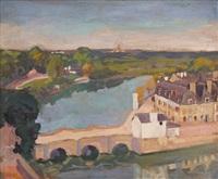 saint-goustan, vieux pont by george oberteuffer