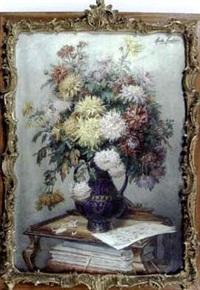 bouquet de fleurs à la partition de musique by marthe courtier