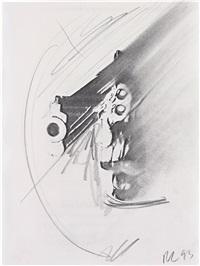 gun study d-334 by robert longo