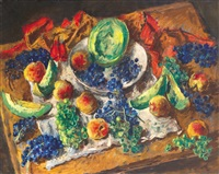 still life with grapes by andor basch
