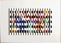 untitled ii from five dots suite by yaacov agam