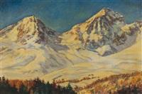 montagnes enneigées by sergei shishko
