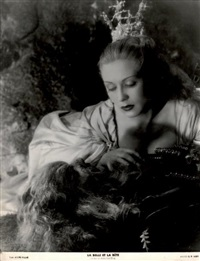 la belle et la bête--josette day et jean marais dans le film de jean cocteau by g.r. aldo