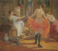 in the painter's studio by virginia tomescu-scrocco