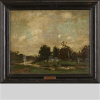 landscape with cattle by willem maris