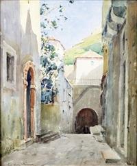petite rue du vieux village by paul emile lecomte