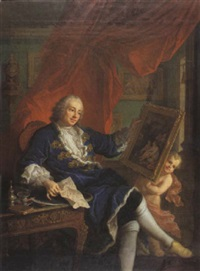 portrait de léonard bathéon de vertrieu, premier président au bureau des finances de la généralité de lyon en 1733 by charles grandon