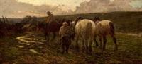 campesinos con caballos by ventura alvarez sala