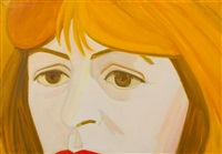 portrait of elaine de kooning by alex katz