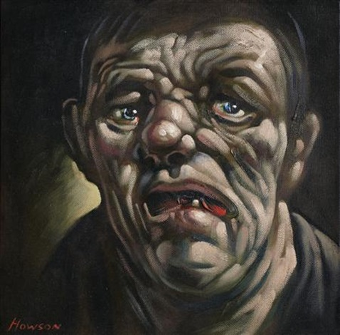 head study the dawning by peter howson