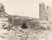 karak, tour de la forteresse et ruines by henri sauvaire