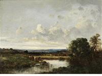 picardy landscape by leon victor dupré