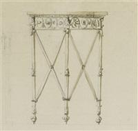 une petite table d'appoint en métal by antonio asprucci