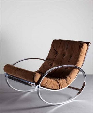 info for 5f960 31037 A chrome rocking chair by Renato Zevi on artnet