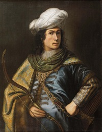 portrait d'homme en oriental by jan victors