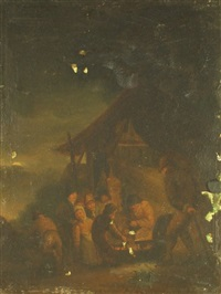 scène de pillage la nuit by egbert lievensz van der poel