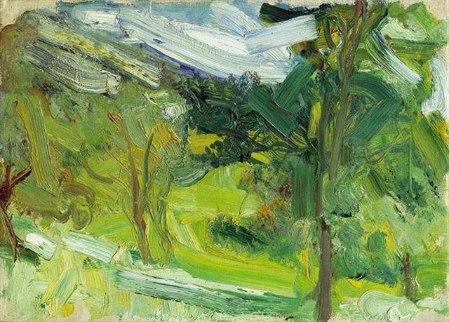 landschaftsstudie (traunsee) by richard gerstl