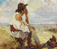 peasant reposing by nicola i. alexandrescu