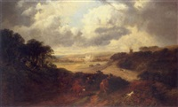Extensive landscape with Canterbury in..., 1877–1877