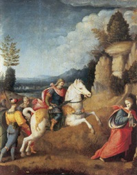 the persecution of saint barbara by bacchiacca