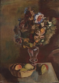 a bouquet of flowers by georges (karpeles) kars