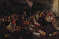 a battle scene by hieronymus francken the elder